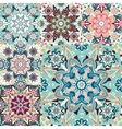 Set of seamless colorful patterns in oriental vector image