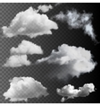 set transparent clouds vector image