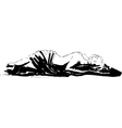 Sleeping pretty girl vector image vector image