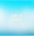 square blurred winter background blue white vector image