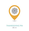 sunflower mapping pin icon harvest thanksgiving vector image vector image