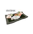 sushi set hand draw sketch vector image