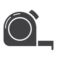tape measure glyph icon build and repair vector image vector image