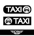 taxi icon vector image