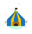 tent tent circus abstract flat color icon template vector image vector image