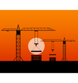 two tall cranes vector image
