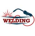 welding machine symbol for welder vector image vector image