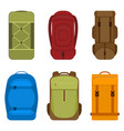 camping backpacks icon vector image