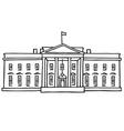 The White House Washington DC vector image