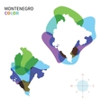 abstract color map montenegro vector image