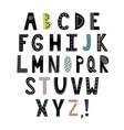 alphabet in scandinavian vector image