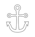 anchor marine symbol isolated icon vector image vector image