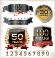 Anniversary labels vector image vector image
