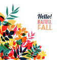 Autumn of leaves vector image vector image