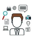 avatar social media design isolated vector image vector image