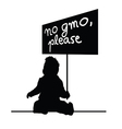 baby with message for gmo vector image vector image