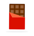 bar chocolate in a wrapper flat material vector image