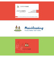 beautiful candles logo and business card vertical vector image