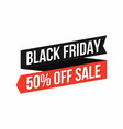 black friday banner discount sticker friday vector image vector image