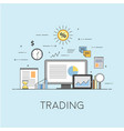 business and finance digital technologies vector image vector image