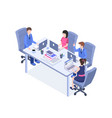 business meeting color isometric vector image vector image
