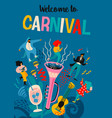 carnival with funny men and vector image vector image