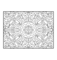 Carpet coloring book for adults vector image