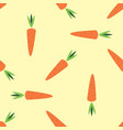 carrots in cartoon style isolated seamless vector image