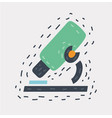 cartoon microscope icon on vector image