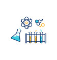 chemical physics lab icon vector image vector image