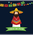 cinco de mayo greeting card invitation mexican vector image vector image