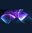 colorful blue neon shape round triangle in modern vector image