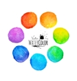 Colorful set isolated watercolor paint circles vector image vector image