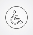 cripple outline symbol dark on white background vector image vector image