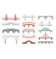 different bridges flat set vector image vector image