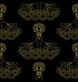 dragon boat golden seamless pattern vector image vector image
