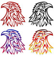 eagle head symbol emblem tattoo outlines black red vector image vector image