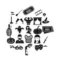 filmmaker icons set simple style vector image vector image