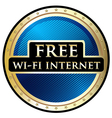 Free WiFi Label vector image