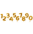 golden number balloons realistic metal air party vector image