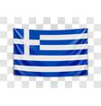 hanging flag greece hellenic republic greek vector image