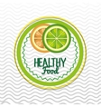 healthy food seal isolated icon design vector image