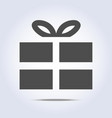 icon of present box vector image