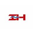 iH company logo vector image vector image
