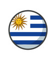 isolated uruguay flag icon block design vector image