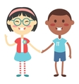 Kids holding hands vector image vector image
