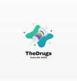 logo drugs gradient colorful style vector image