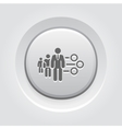 Management Icon Grey Button Design vector image vector image