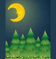 moon night nature scene vector image