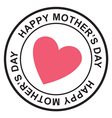 Mothers day postage stamp vector image